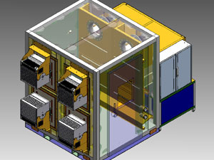 Photovoltaik Prüfkammer Wireframe Feutron Klimasimulation GmbH
